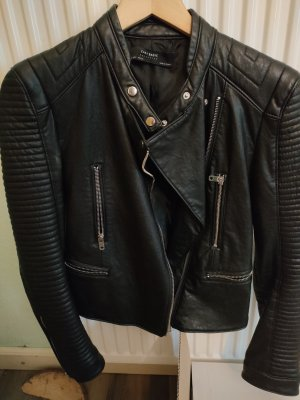 Zara Basic Leather Blazer black