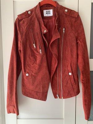 Vera Moda Veste réversible rouge foncé cuir