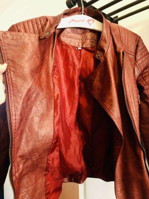 Fritzi aus preußen Leather Jacket carmine