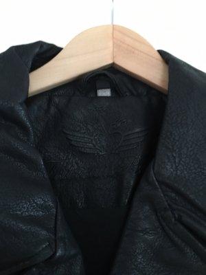 Fritzi aus preußen Faux Leather Jacket black-silver-colored
