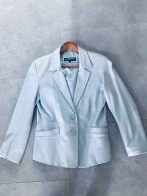 Mauritius Veste en cuir bleu azur