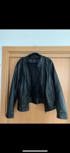 Street One Veste en cuir noir
