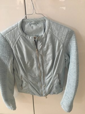 Faux Leather Jacket multicolored