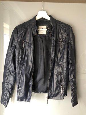 Colins Leather Jacket dark blue