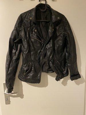 1982 Chaqueta de cuero negro