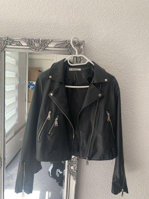 Derimod Leather Jacket black