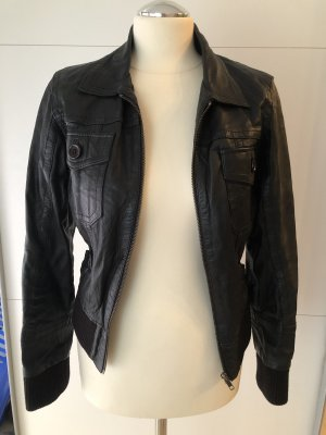 Chevirex Faux Leather Jacket black