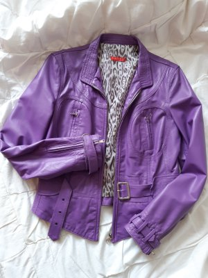 Bacino Robe en cuir violet-lilas
