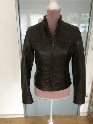 Gipsy Leather Jacket olive green leather