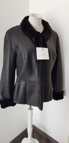 CPL Manteau de fourrure noir