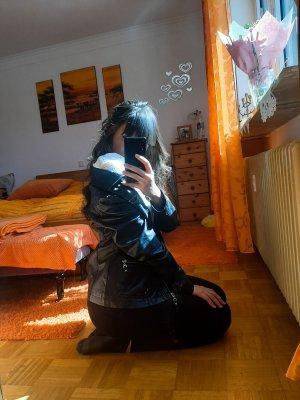Canda Robe en cuir noir