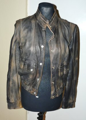 Guess by Marciano Leather Jacket bordeaux-beige leather
