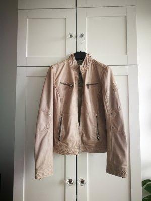 Mauritius Faux Leather Jacket dusky pink