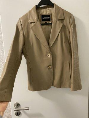 Mauritius Leather Jacket cream-beige leather