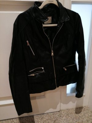 Toxik3 Leather Jacket black-silver-colored