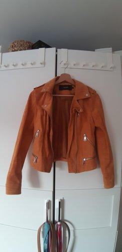 Vero Moda Leather Jacket ocher-gold orange