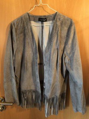 Looxent Leather Blazer light grey