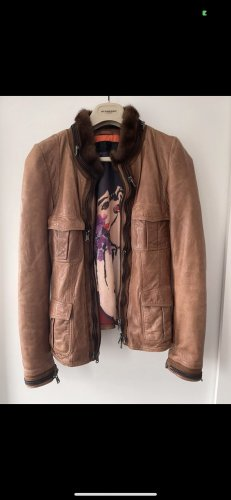 Benedetta Novi Leather Jacket multicolored