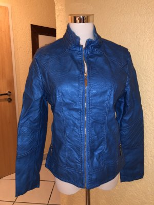 Rossa Miss Faux Leather Jacket blue