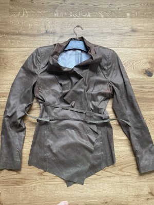 Drykorn for beautiful people Wraparound Jacket grey brown