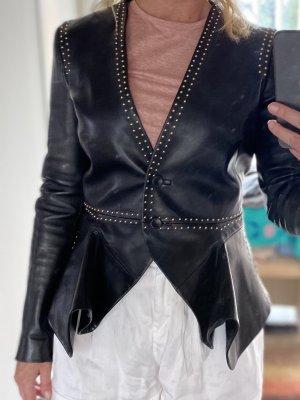 Alexander McQueen Leather Jacket black
