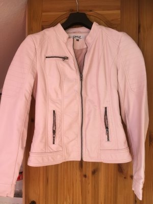 Only Blazer in pelle rosa pallido