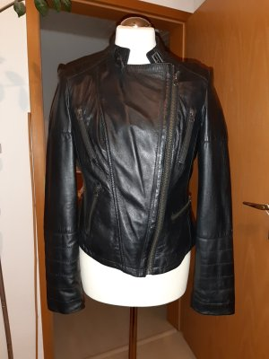 Ashley Brooke Leather Jacket black leather