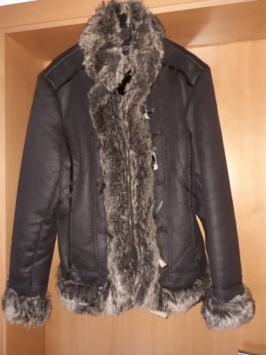 Authentic Faux Leather Jacket dark brown