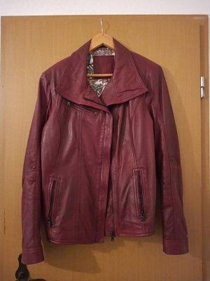 Milano Leather Jacket magenta