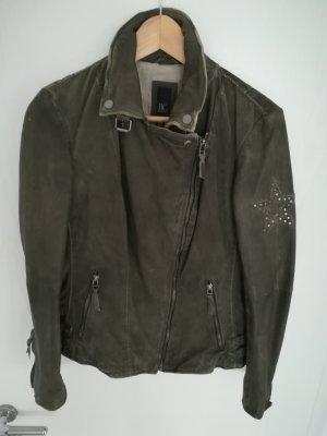 BC Leather Jacket dark green