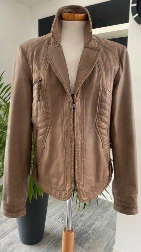 Biba Leather Jacket rose-gold-coloured
