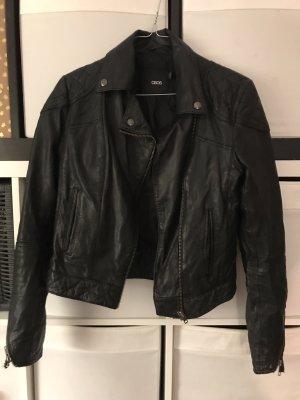 ASOS DESIGN Veste en cuir noir
