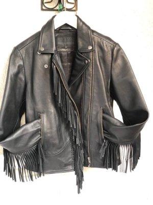 Karen by Simonsen Leather Jacket black leather