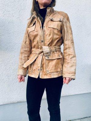Mauritius Leather Jacket beige-oatmeal