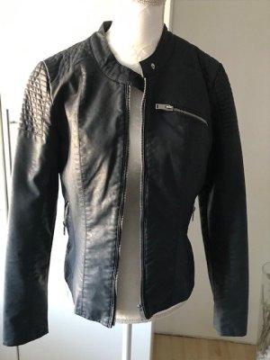 Lederjacke blau s Jacke Übergangsjacke Blouson Gr. 36 Bikerjacke