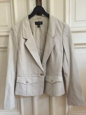 Leather Blazer light grey-white leather