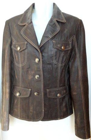 Lederjacke Blazer Military Used Look True Vintage Retro