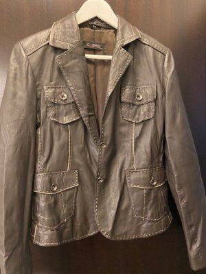 Cabrini Leather Jacket brown leather