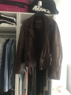 Campus by Marc O'Polo Leather Jacket brown