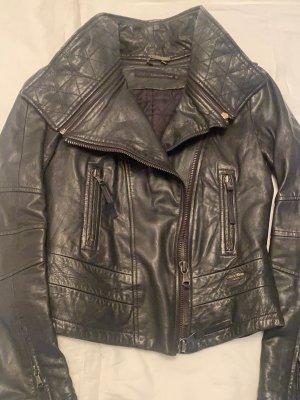 Calvin Klein Jeans Blazer en cuir noir cuir