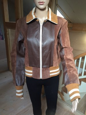 Vero Moda College Jacket brown-oatmeal leather
