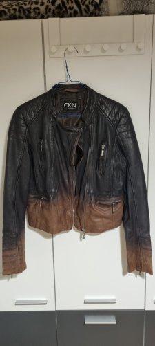 CKN of Scandinavia Leather Jacket multicolored