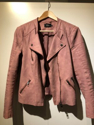 Only Giacca in pelle color oro rosa