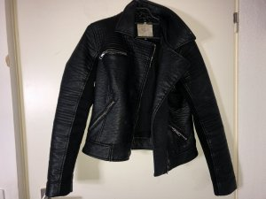 Zara Veste motard noir cuir