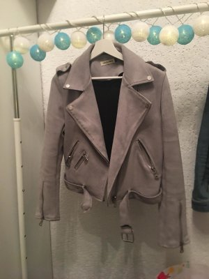 Leather Dress grey