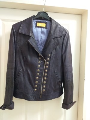 Biba Leather Jacket dark violet