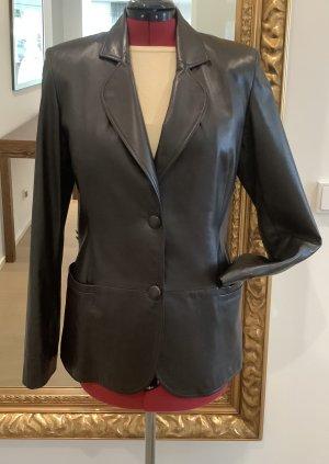 Versace Jeans Couture Blazer en cuir brun cuir