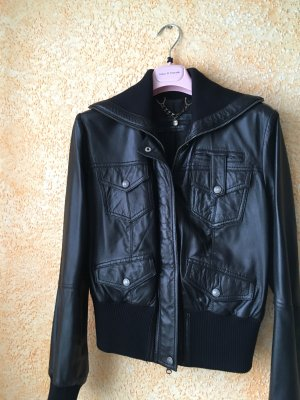Oui Set Biker Jacket black