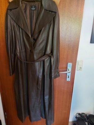 Madeleine Skórzany płaszcz brązowy Skóra