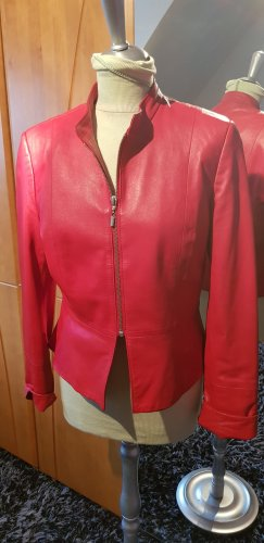 Leather Blazer bright red leather